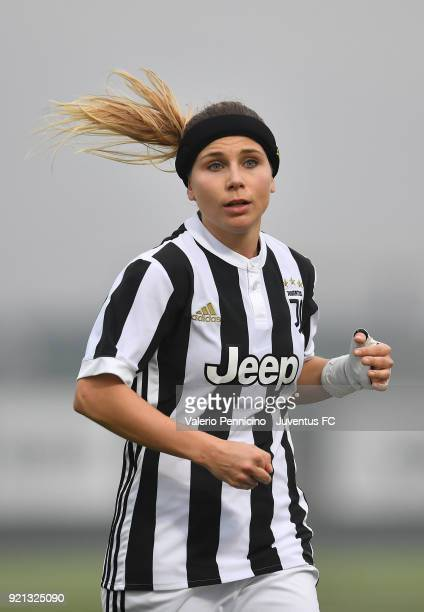Tuija Annika Hyyrynen of Juventus Women looks on during the match between Juventus Women and Empoli Ladies at Juventus Center Vinovo on February 17...