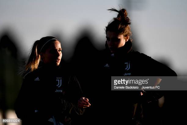 Tuija Hyyrynen during a Juventus women training session at Juventus Center Vinovo on December 28 2017 in Vinovo Italy