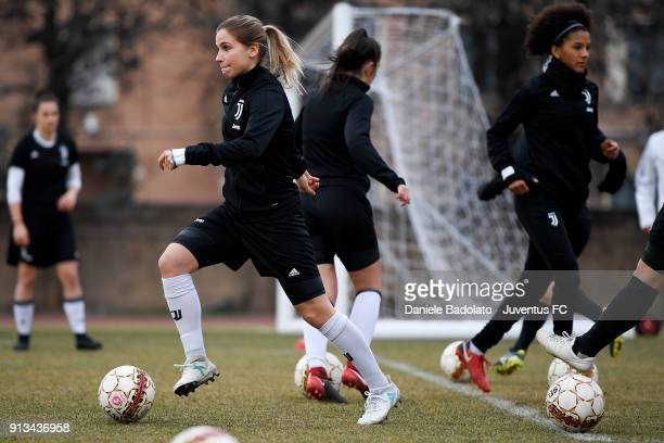 Tuija Hyyrynen during a Juventus Women training session on February 2 2018 in Turin Italy