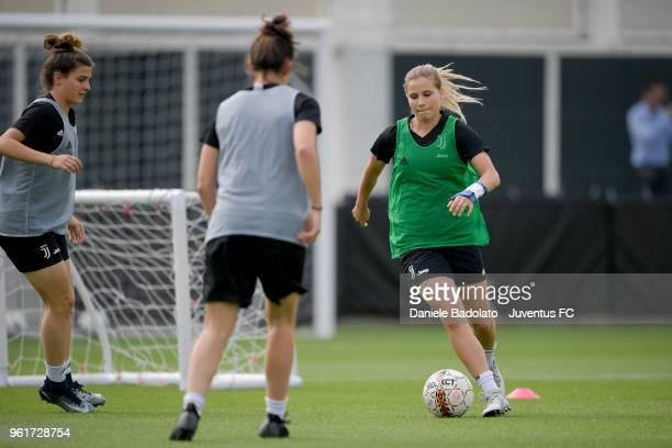 Tuija Hyyrynen during the Juventus Women training session on May 23 2018 in Turin Italy