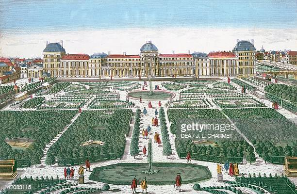 Tuileries Palace in Paris France 18th Century