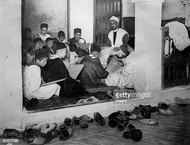 Tuition in a school in Morocco Photograph Around 1930