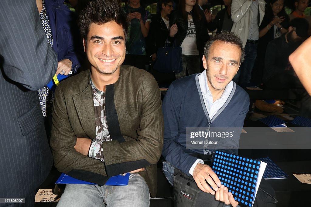 John Galliano : Front Row - Paris Fashion Week - Menswear S/S 2014 : News Photo