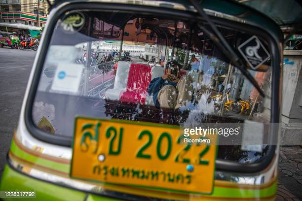 A tuktuk driver waits for customers in Bangkok Thailand on Wednesday Sept 2 2020 Thailand has reported zero locallytransmitted Covid19 cases for 100...