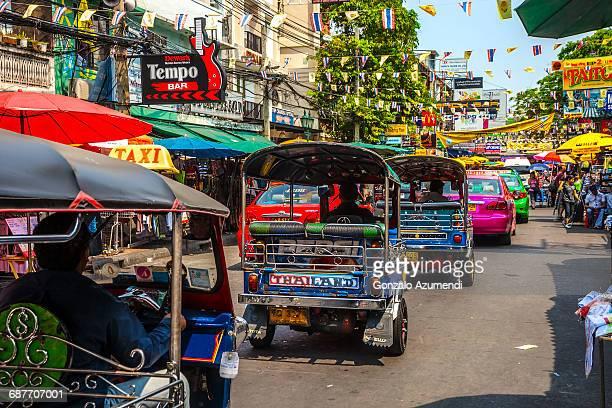 Tuk-tuk in Khao San Road in Bangkok