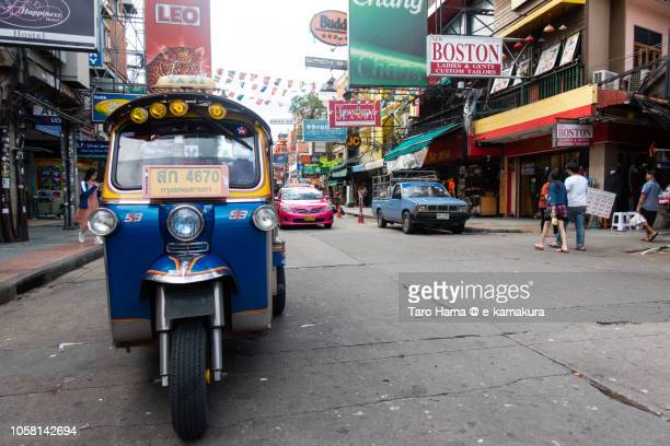Tuktuk motor bike taxi in Khao San Road in Bangkok