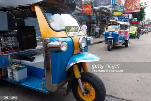 Tuktuk motor bike taxi in Khao San Road in Bangkok