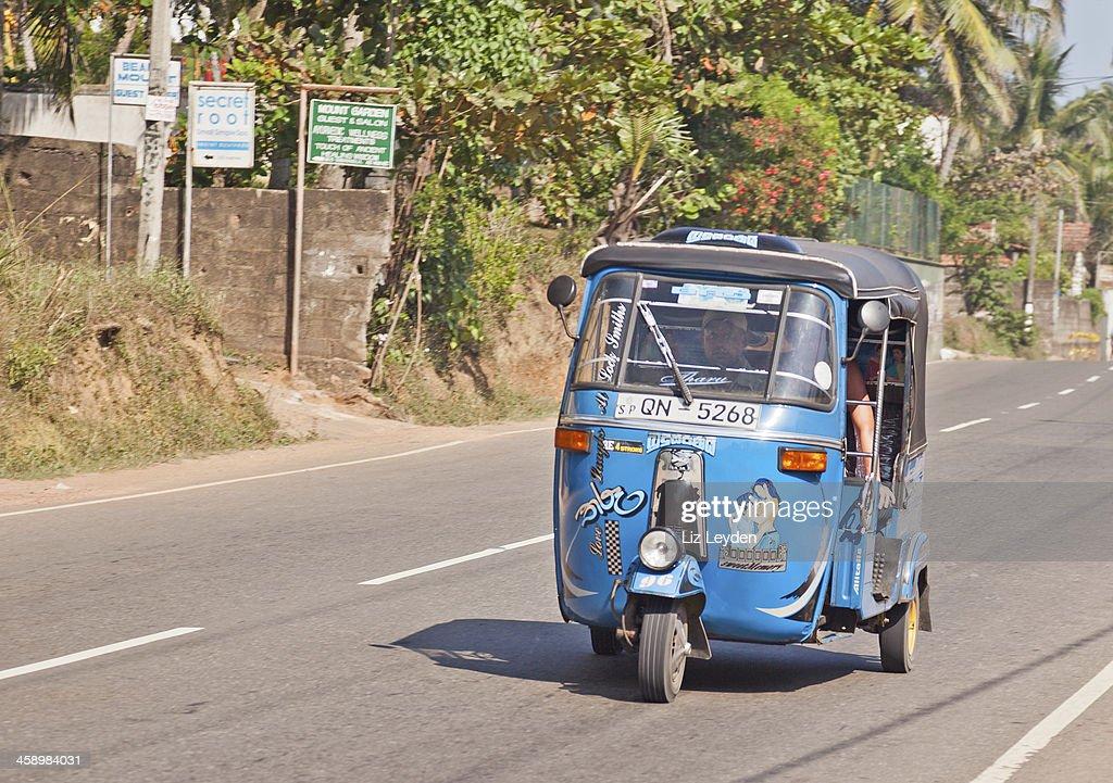 Tuktuk On Cghw Highway Mirissa Sri Lanka Stock Photo - Getty Images