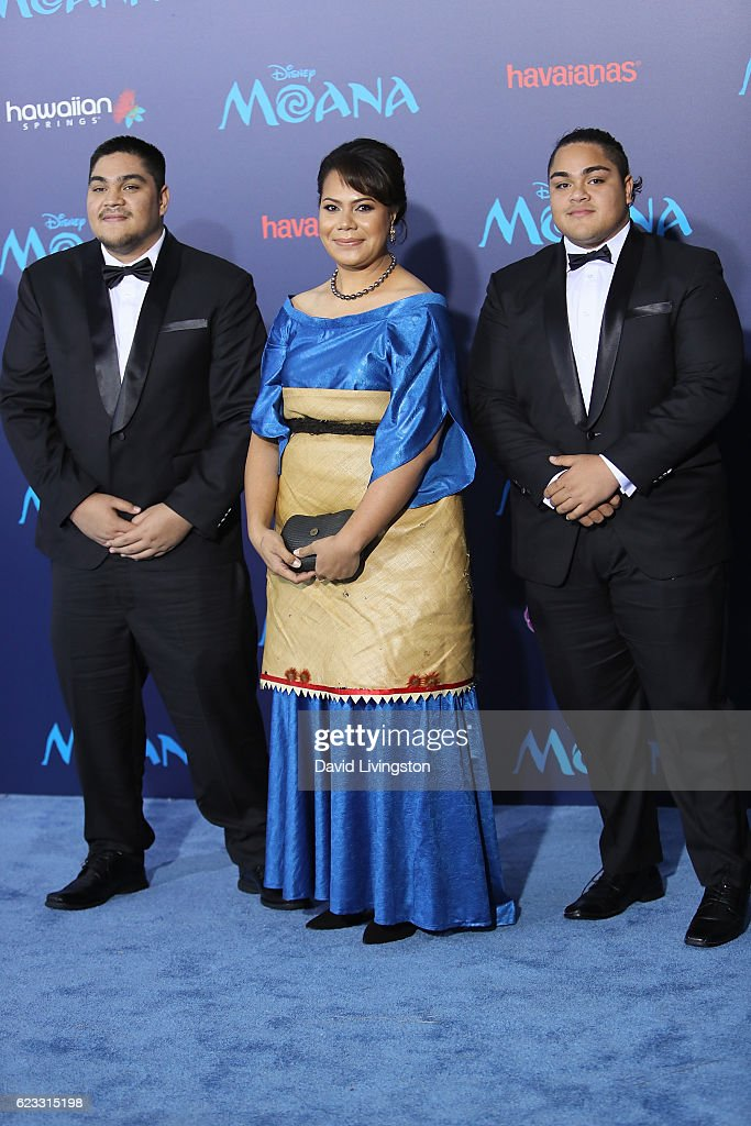 Tukuato, Frederica Tuita Filipe, and Prince Tungi arrive at the AFI FEST 2016 presented by Audi premiere of Disney's 'Moana' held at the El Capitan Theatre on November 14, 2016 in Hollywood, California.