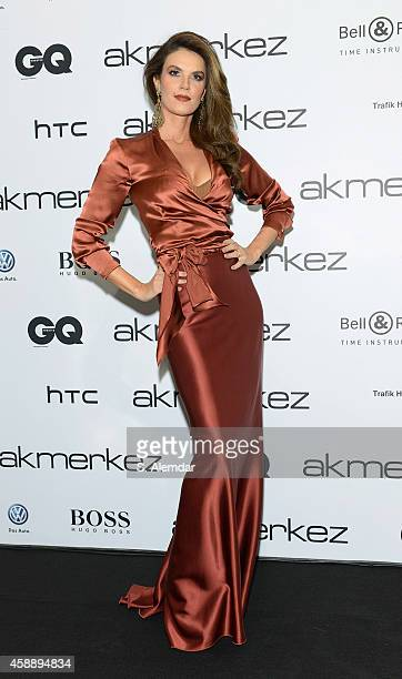 Tulin Sahin attends the GQ Turkey Men of the Year awards at Four Season Bosphorus Hotel on November 12 2014 in Istanbul Turkey