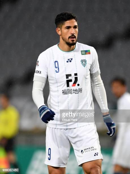 Tulio De Melo of Avispa Fukuoka in action during the JLeague J2 match between Tokyo Verdy and Avispa Fukuoka at Ajinomoto Stadium on March 21 2018 in...