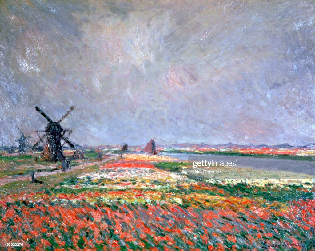 'Tulip fields near Leiden', 1886. Artist: Claude Monet : News Photo