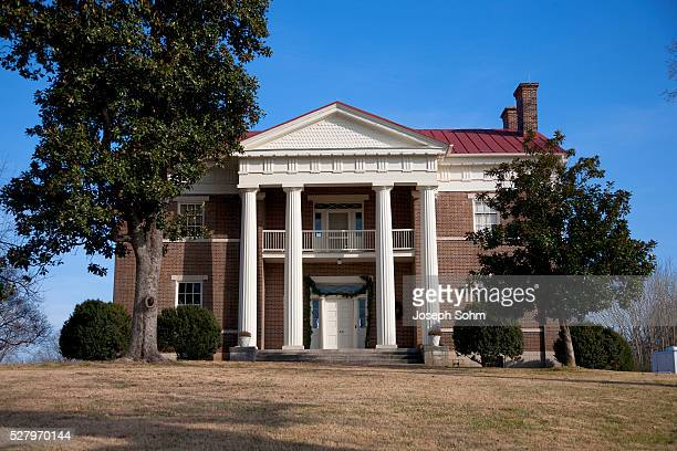 tulip grove greek revival home of andrew jackson donelson, president andrew jackson's secretary, the hermitage, nashville, tn - andrew jackson stock photos and pictures