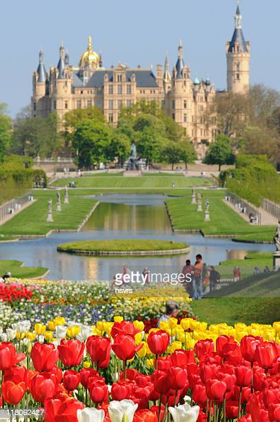 tulips and Schwerin (Germany)