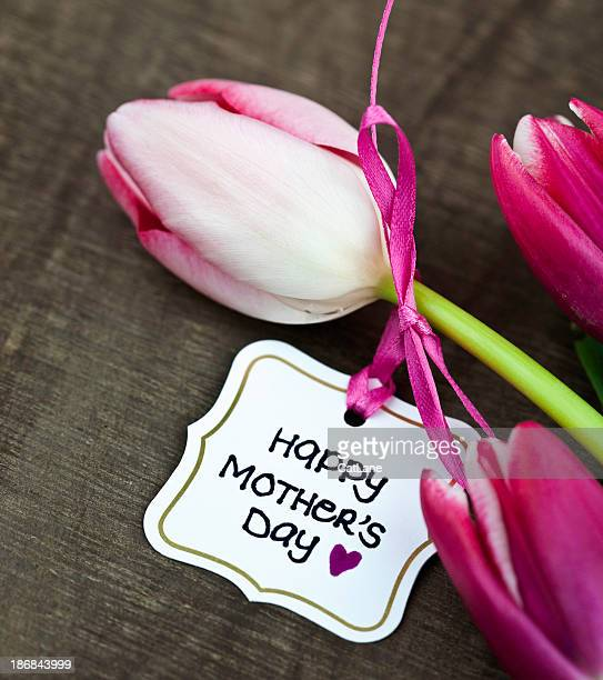 Tulips with Mother's Day Card