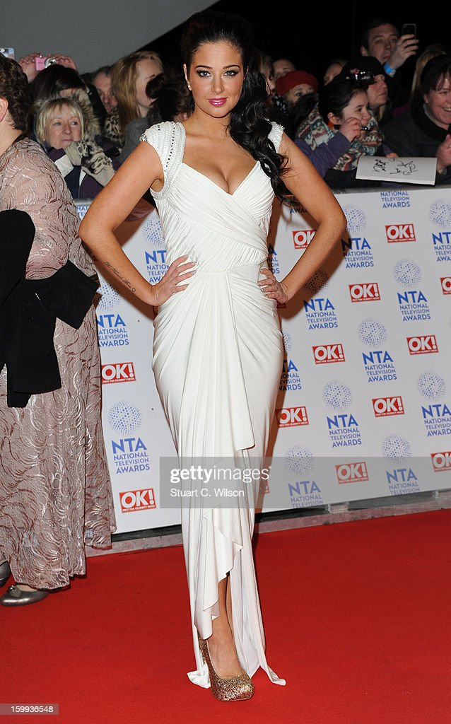 Tulisa Contostavalos attends the National Television Awards at 02 Arena on January 23, 2013 in London, England.