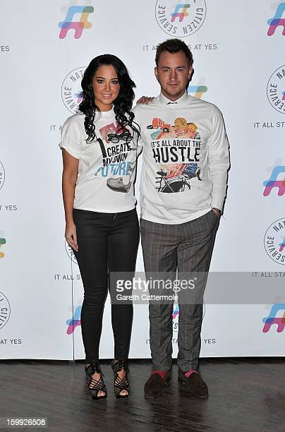Tulisa Contostavlos and Francis Boulle attend the NCS 2013 launch on January 23 2013 in London England Tulisa was on hand to encourage teenagers to...