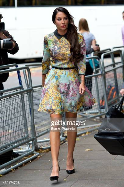 Tulisa Contostavlos arrives to face drug charges at Southwark Crown Court on July 15 2014 in London England