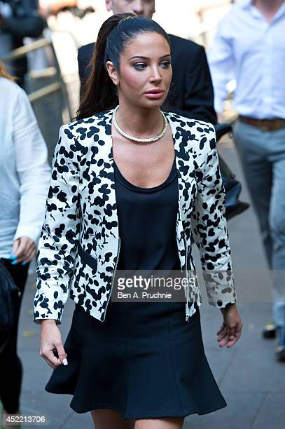 Tulisa Contostavlos arrives to face drug charges at Southwark Crown Court on July 16 2014 in London England