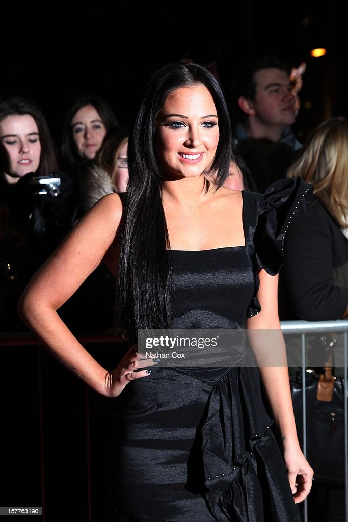 Tulisa Contostavlos attends a press conference ahead of the X Factor final this weekend at Manchester Conference Centre on December 6, 2012 in Manchester, England.