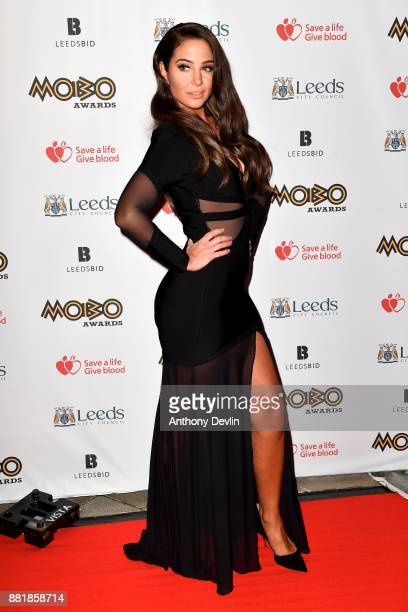 Tulisa Contostavlos attends the MOBO Awards at First Direct Arena Leeds on November 29 2017 in Leeds England