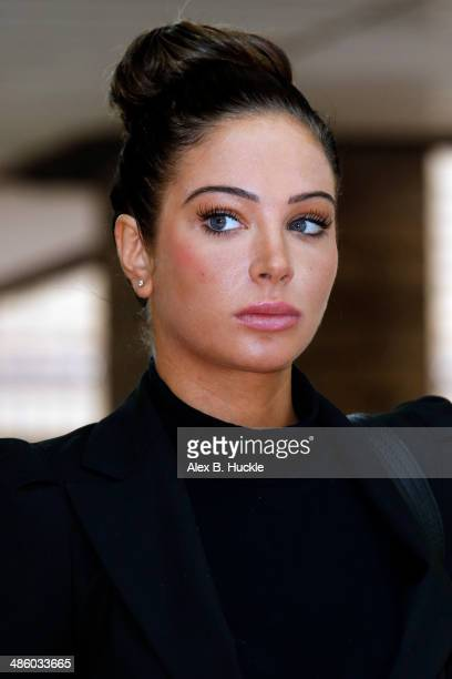 Tulisa Contostavlos departs Southwark Crown Court where she faced drug offence charges April 22 2014 in London England