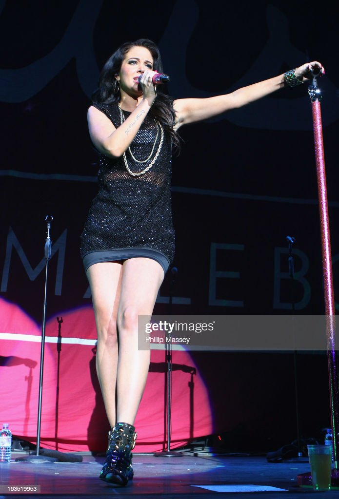 Tulisa Contostavlos performs as support act for Ne-Yo at the 02 on March 11, 2013 in Dublin, Ireland.