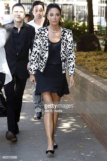 Tulisa Contostavlos seen arriving at Southwark Crown Court on July 16 2014 in London England Photo by Alex Huckle/GC Images