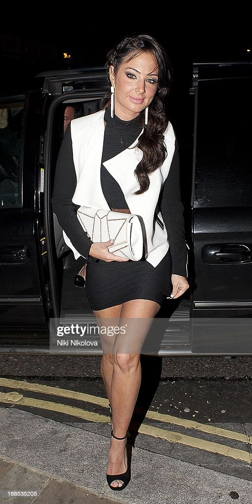 Tulisa Contostavlos sighting at The Met Bar, Park Lane on May 10, 2013 in London, England.