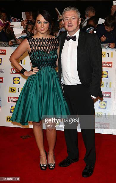 Tulisa Contostavlos with Louis Walsh attends the Pride Of Britain awards at the Grosvenor House Hotel on October 29 2012 in London England