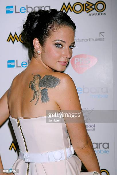 Tulisa of NDubz arrives at the Mobo Launch at the Mayfair Hotel on September 8 2010 in London England