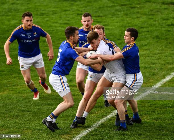 Tullamore , Ireland - 26 May 2019; Kevin O'Callaghan of Kildare is surrounded by Longford players, Colm P. Smyth, Andrew Farrell, James McGivney,...