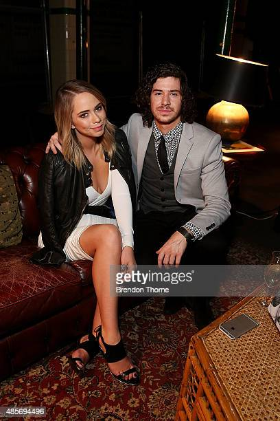 Tully and Johnny Barnes the RE Denim For David Jones launch party at St James Station on August 29 2015 in Sydney Australia