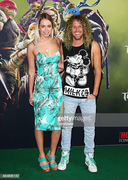 Tully Smyth and Tim Dormer arrives at the Sydney Premiere of 'Teenage Mutant Ninja Turtles' at The Entertainment Quarter on September 7 2014 in...