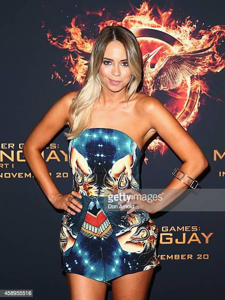 Tully Smyth arrives at The Hunger Games Mockingjay Part 1 Sydney Premiere at Event Cinemas George Street on November 14 2014 in Sydney Australia