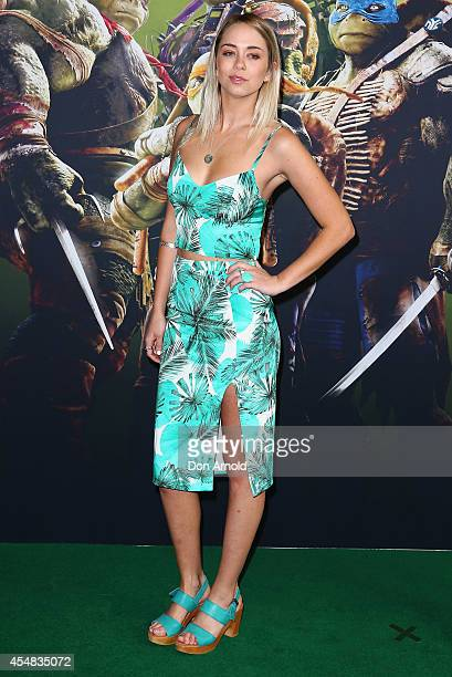 Tully Smyth arrives at the Sydney Premiere of 'Teenage Mutant Ninja Turtles' at The Entertainment Quarter on September 7 2014 in Sydney Australia