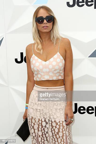 Tully Smyth attends the Portsea Polo event at Point Nepean Quarantine Station on January 10 2015 in Melbourne Australia