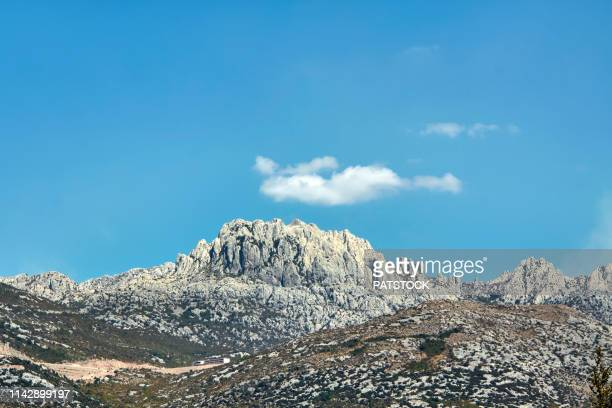 tulove grede are weird karst phenomenon located in the velebit nature park - light natural phenomenon stock pictures, royalty-free photos & images
