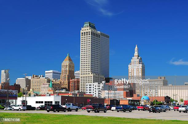 tulsa downtown buildings - tulsa stock pictures, royalty-free photos & images