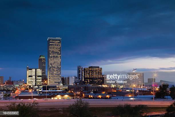 tulsa, oklahoma, city view - tulsa stock pictures, royalty-free photos & images