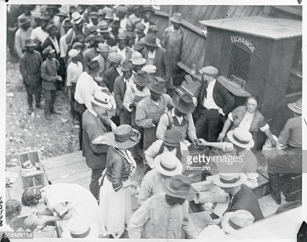 Tulsa Oklahoma Negroes receiving their first meal after the race riots
