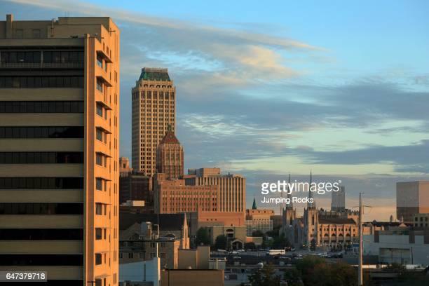 Tulsa Oklahoma Skyline at Sunrise