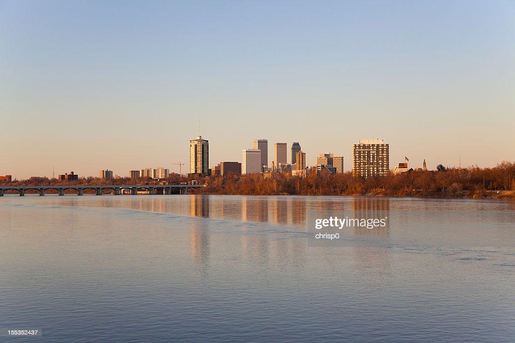 Tulsa Skyline at Sunset : Stock Photo