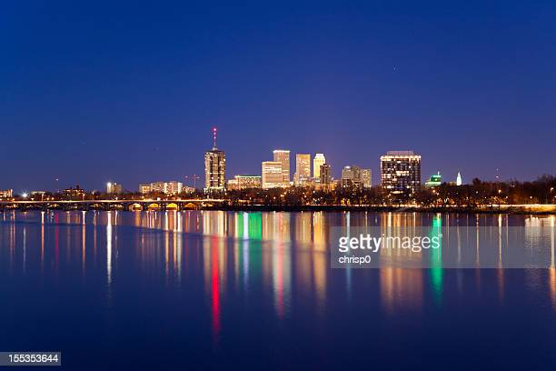 tulsa skyline at twilight - tulsa stock pictures, royalty-free photos & images