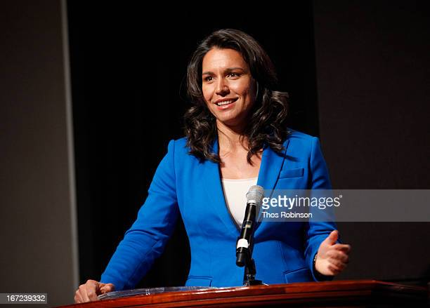 Tulsi Gabbard attends the 33rd Annual Women's Campaign Fund Parties of Your Choice Gala at Christie's Auction House on April 22 2013 in New York City