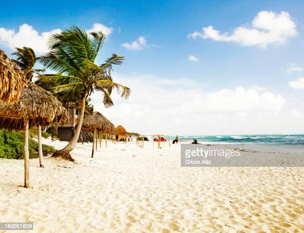 tulum beach - mayan riviera stock photos and pictures