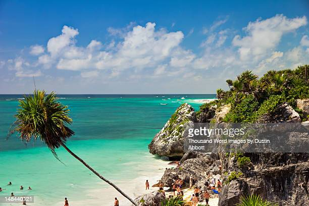 tulum cliffs - dustin abbott stock pictures, royalty-free photos & images