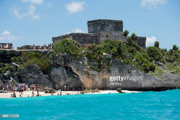 Tulum is the site of a PreColumbian Maya walled city serving as a major port for Coba Daily tour buses bring a constant stream of visitors to the site