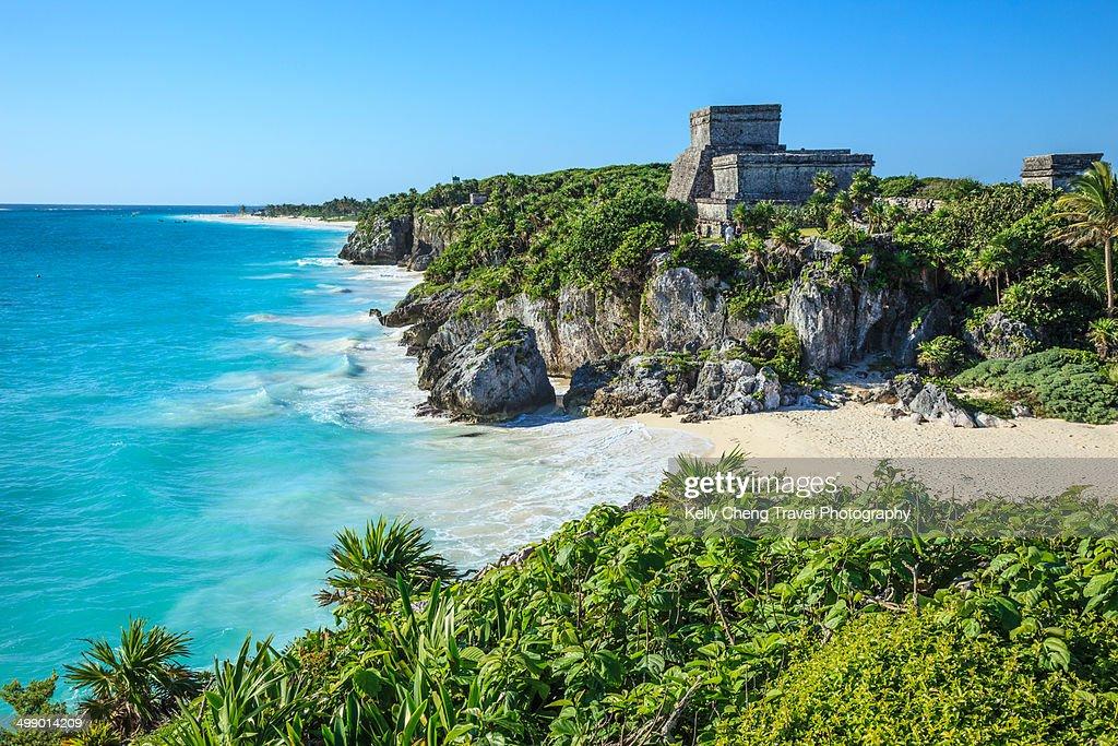 Tulum Mayan Ruins : Stock Photo