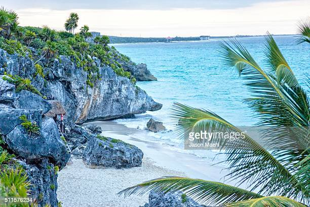tulum mayan ruins - yucatan, mexico - mayan riviera stock photos and pictures